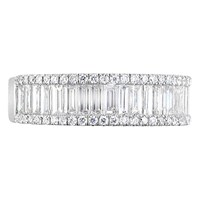 Ewa 18Ct White Gold Baguette And Brilliant Cut Diamond Eternity Ring 1.20Ct