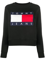 Tommy Jeans Logo Embroidered Cropped Sweatshirt 60