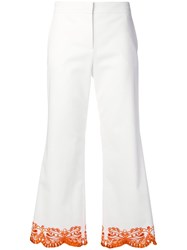 Emilio Pucci Cropped Tailored Trousers White