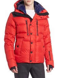 Moncler Hooded Puffer Down Jacket Red