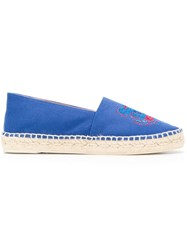 Kenzo Logo Embroidered Espadrilles Blue