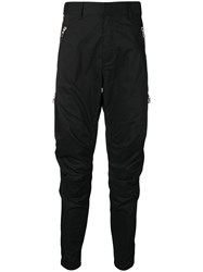 Balmain Skinny Tapered Trousers Black