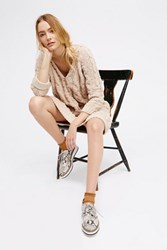 Free People Womens Roll Sleeve Cable Mini