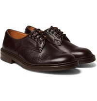 Tricker's Daniel Creased Leather Derby Shoes Brown