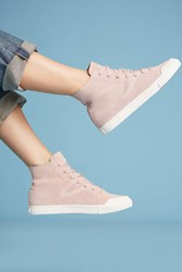 Anthropologie Tretorn Marley High Top Sneakers Pink