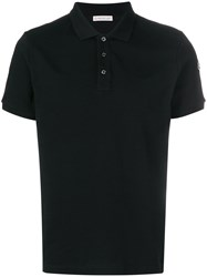 Moncler Classic Fitted Polo Top Black