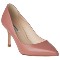 Lk Bennett L.K. Bianca Pointed Toe Court Shoes Dark Pink Leather