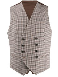 Tagliatore Checked Double Breasted Waistcoat 60