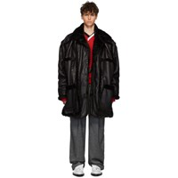 Y Project Black Shearling Pop Up Coat