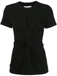 Derek Lam 10 Crosby Twisted Front Knot T Shirt Black