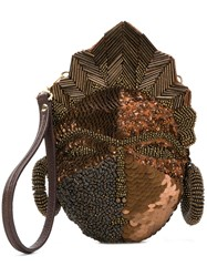 Jamin Puech Manray Mini Bag Brown