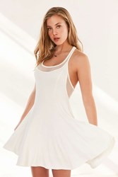 Silence And Noise Silence Noise Chance Mesh Racerback Mini Dress Ivory