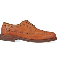 Hudson H By Callaghan Pebbled Leather Brogues Tan