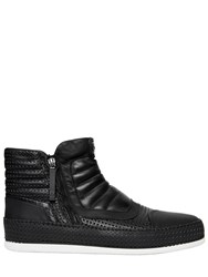 Bruno Bordese Perforated Leather And Nubuk Sneakers
