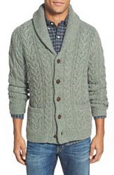 Polo Ralph Lauren Wool And Cashmere Cable Knit Shawl Collar Cardigan Sage Heather
