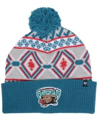 47 Brand '47 Vancouver Grizzlies Hardwood Classic Up North Knit Hat Gray Teal
