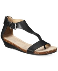 Kenneth Cole Reaction Great Gal Wedge Sandals Women's Shoes Black