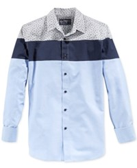 American Rag Men's Colorblocked Long Sleeve Shirt Only At Macy's Blue