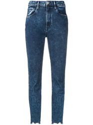 3X1 Cropped Skinny Jeans Blue