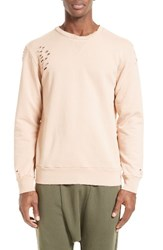 Drifter Men's 'Brendan' Destroyed Sweatshirt Light Sand