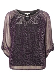 Dorothy Perkins Billie And Blossom Petite Pink Animal Print Blouse