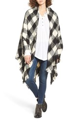 Treasure And Bond Women's Buffalo Check Blanket Wrap