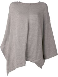 Y's Fine Knit Tunic Brown