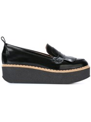 Flamingo's 'Wellington' Fringe Platform Loafers Black