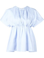 Victoria Beckham Shrinked Blouse Blue