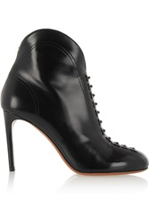 Alaia Embellished Glossed Leather Ankle Boots