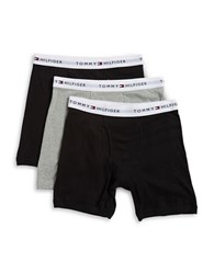 Tommy Hilfiger Three Pack Logo Accented Boxer Briefs Set Multi