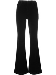 J Brand 'Maria' Flared Trousers Black