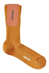 Missoni Wool Socks Camel