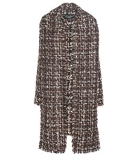 Dolce And Gabbana Knitted Coat Brown
