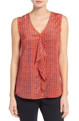 Nic Zoe Women's Vivid Dot Drape Front Tank