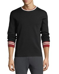 Ralph Lauren Contrast Trim Wool Sweater Black