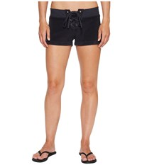 Hard Tail Lace Front Terry Shorts Navy Women's Shorts
