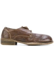 Guidi Lace Up Shoes Women Leather 37 Brown