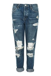 Topshop Moto Vintage Ripped Hayden Jeans Mid Stone