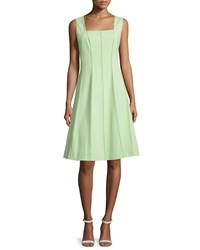 Lafayette 148 New York Adelaide Sleeveless Fit And Flare Dress Mint Women's