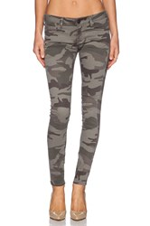 True Religion Casey Mid Rise Skinny Bed Olive Camo