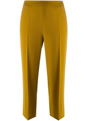 Odeeh Flared Cropped Trousers Yellow And Orange