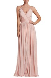 Dress The Population Women's Lace And Chiffon Gown