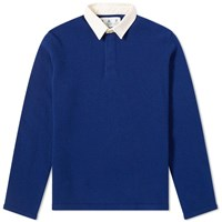 Barbour Earl Knit Rugby Shirt White Label Blue