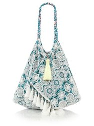 6 Shore Road Sunset Cotton Beach Bag Teal