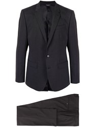 Dolce And Gabbana Two Button Classic Suit Black