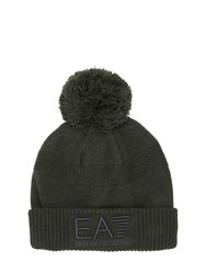 Emporio Armani Logo Embroidered Wool Blend Hat