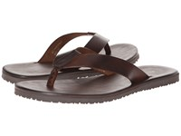 Massimo Matteo Leather Thong Sandal Marrone Sandals Brown