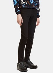 Fendi Central Pleat Skinny Jeans Black