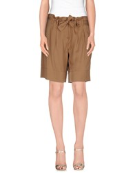 Henry Cotton's Skirts Knee Length Skirts Women Camel